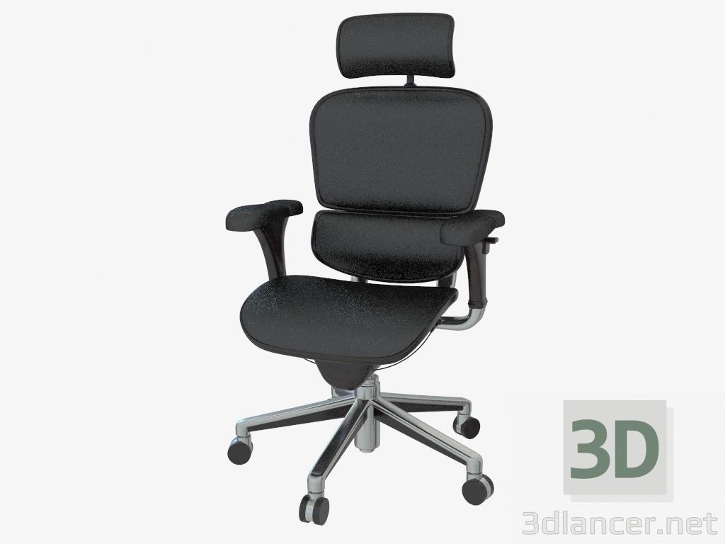 xxl desk chair grey velvet dining chairs modelo 3d cadeira de escritório ergohuman le9erg do