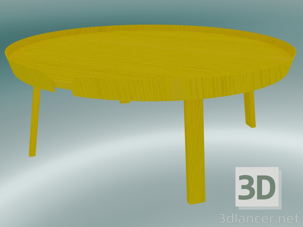 3d Model Coffee Table Around Extra Large Yellow 3dlancer Net
