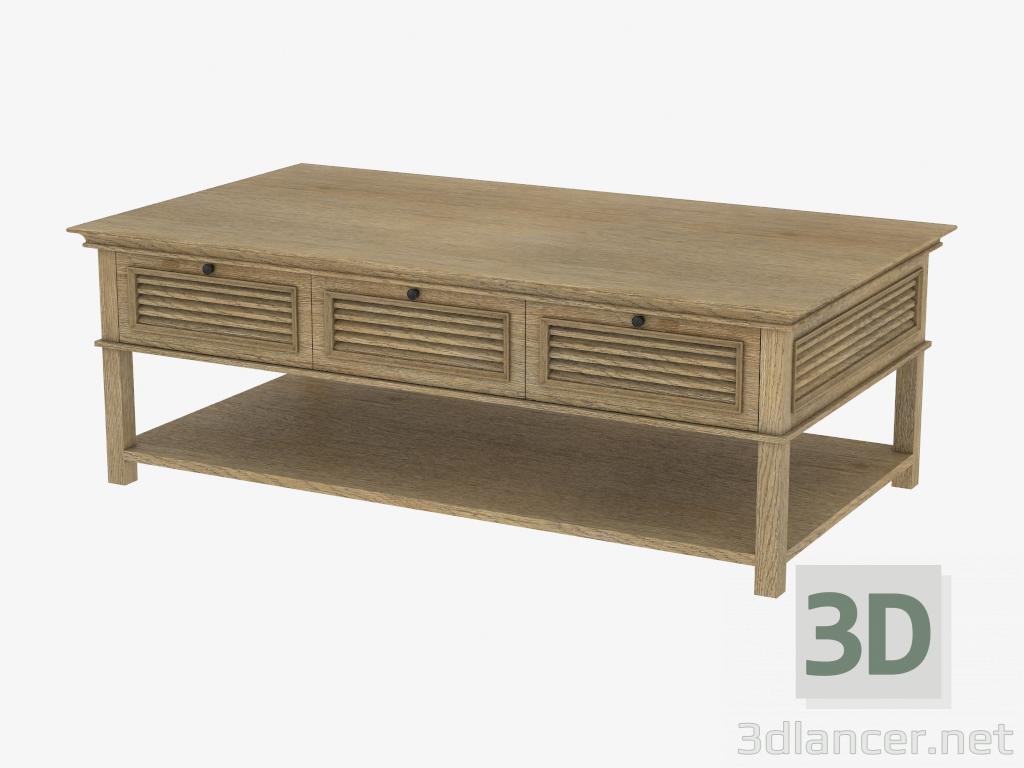 3d model coffee table britania shutter