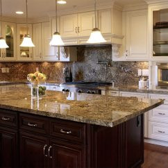 Oak Cabinet Kitchen Brick Floor J & K Cabinetry © - Catalog Details