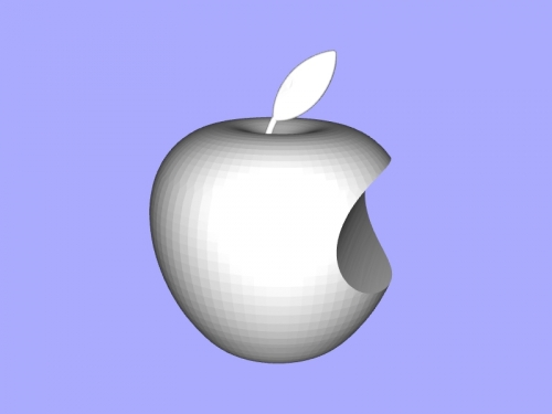 apple logo free 3d