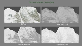 The Lonely Mountain Texture Maps