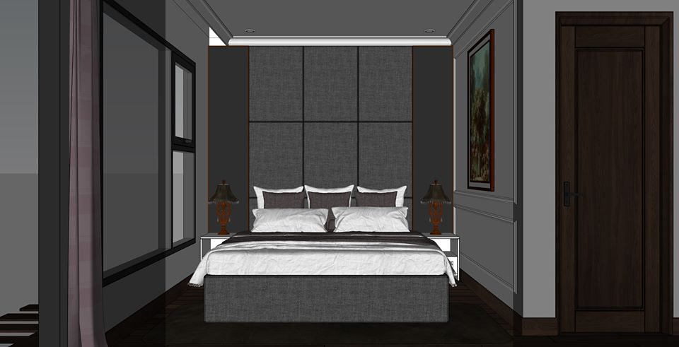 1309.Bedroom Scene Sketchup File free download by Xuan Khanh Free download 3d model