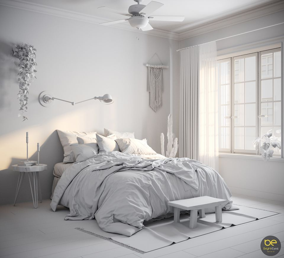 2417.Bed Scandinavian 3dsmax File free download by HoangMinhTho   Free download 3d model