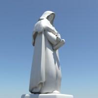 Giordano Bruno Statue 3D Model