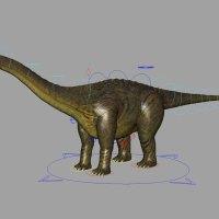 Brontosaurus Rig - Animation Ready