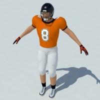American Football Player 3D Model - Realtime