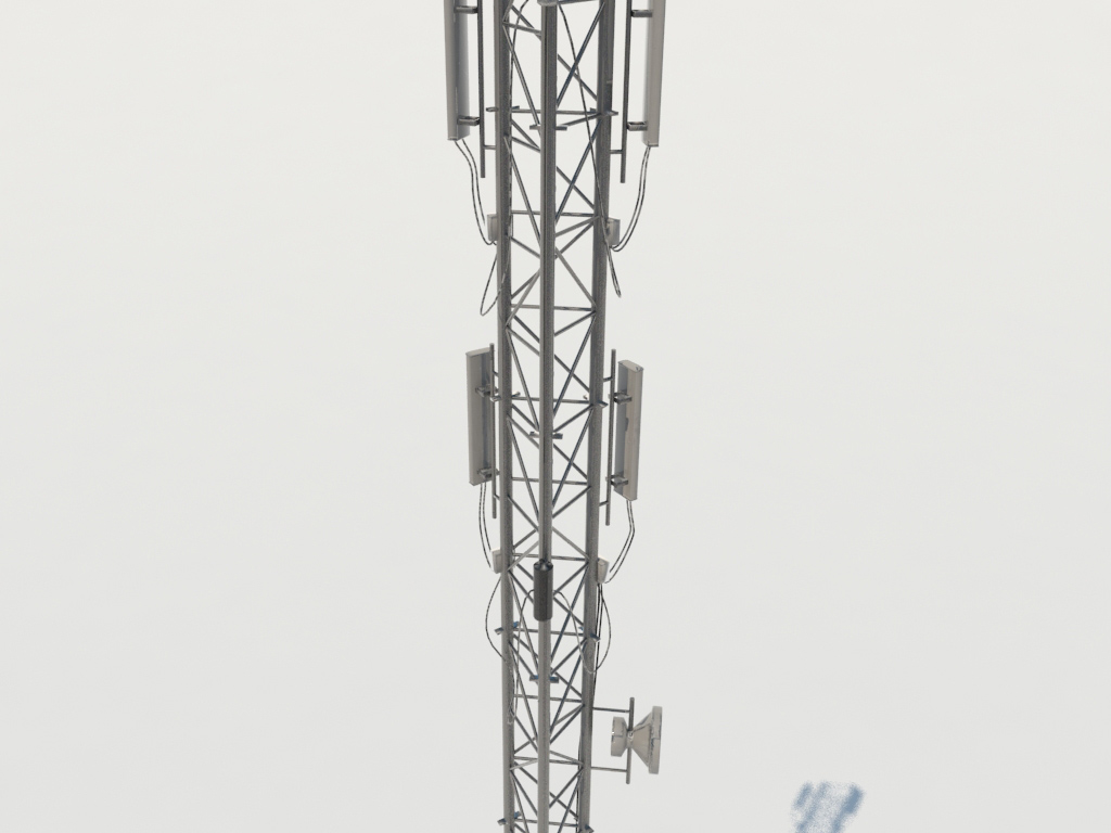 Cellular Telecommunication Tower 3d Model