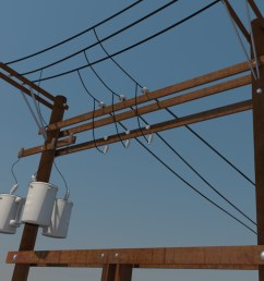 power line distribution line voltage regulators 3d model  [ 1024 x 768 Pixel ]