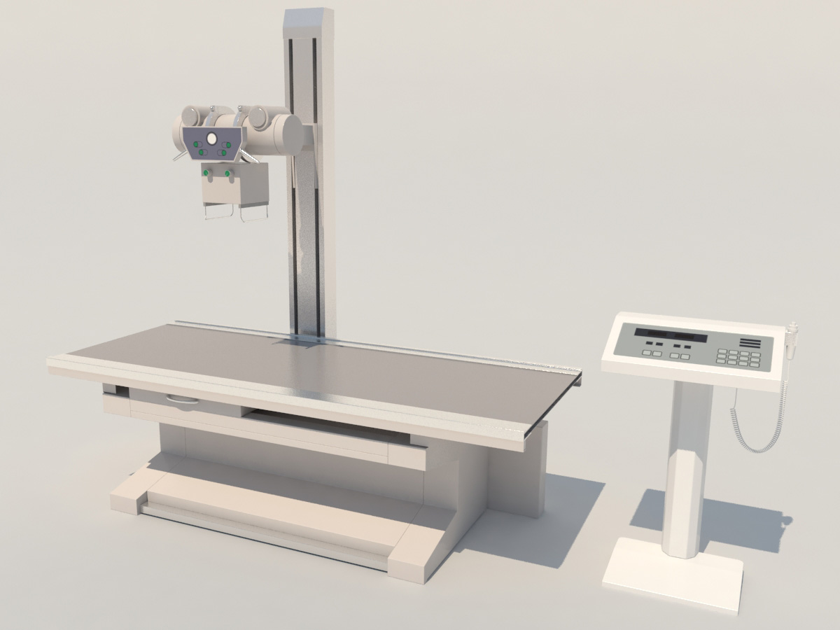hight resolution of high frequency radiography x ray machine 3d model