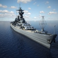 USS Iowa BB 61 Class 3D Model Battleship