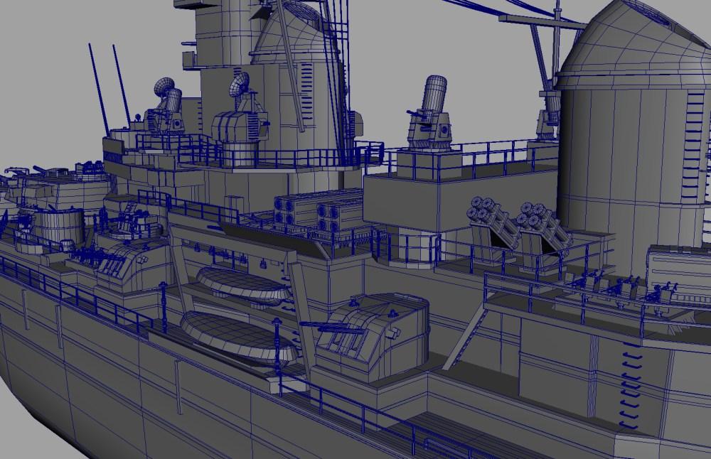 medium resolution of uss iowa bb 61 class 3d model battleship