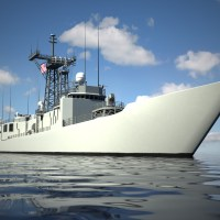 USS Oliver Hazard Perry 3D Model FFG7