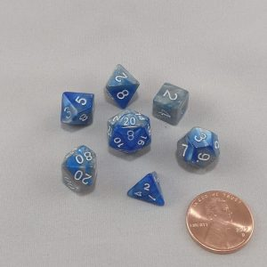 Dice Gemini Mini Steelblue Polyhedral Dice Set