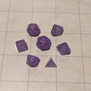 Handmade Dice Mystic Purple Mini Dice Set