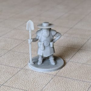 Adventurers/NPCs Male Dwarf Grave Cleric