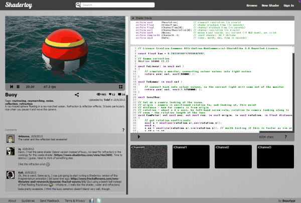Shadertoy Buoy