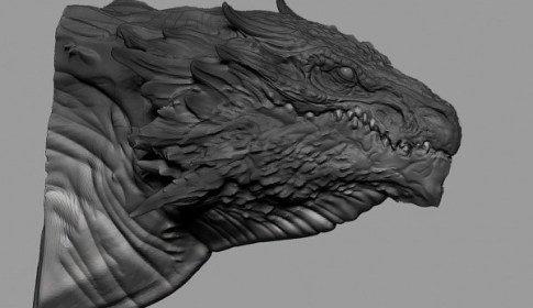 Zbrush Dragon Head Speed Sculpting (40min)