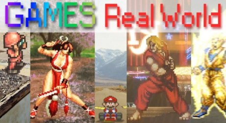 2d games in the real world 2dゲームキャラが現実世界に現れた