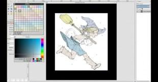 David-Revoy-Gmic-Colorize Demo