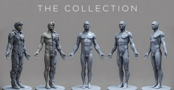 3dtotal Anatomical Collection 5 New Male Reference Figures