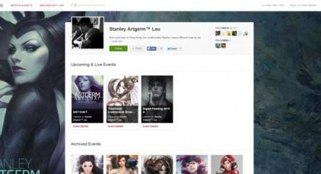 「artgerm」livestream動画ページ
