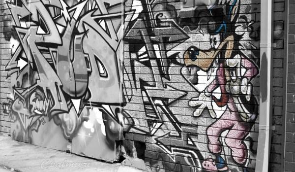 Black and White Graffiti Art