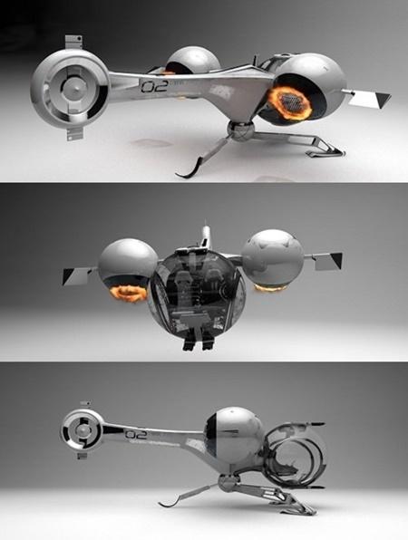 Oblivion Bubbleship 3d Model V21 Parts Rigged