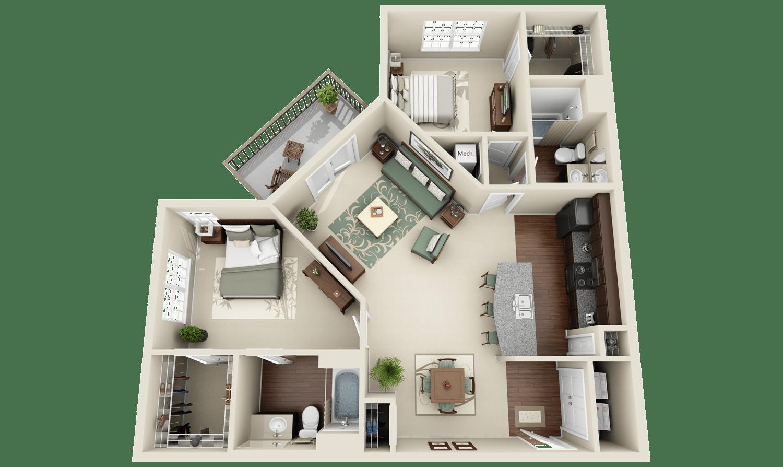 2_Apartments and Condos  3Dplanscom