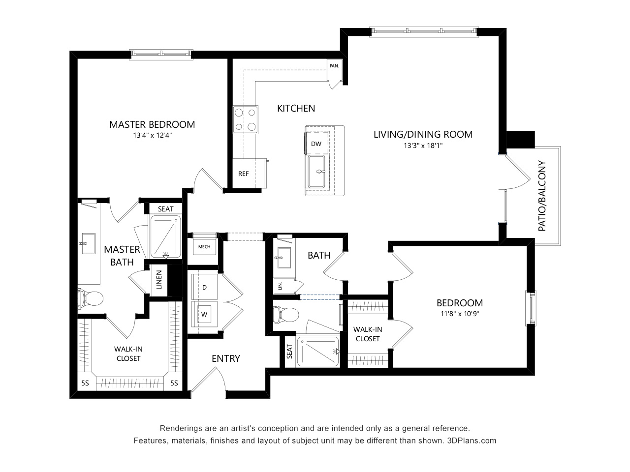 7_Black-and-White-floor-plans « 3Dplans.com