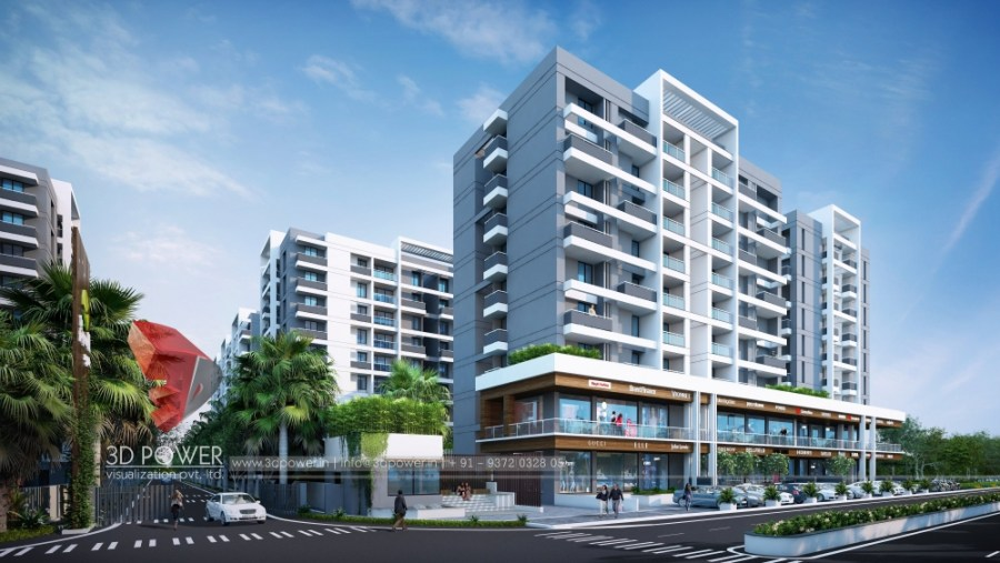 Sky-architectural-animation-rendering-3d-elevations-designs-commercial-apartment