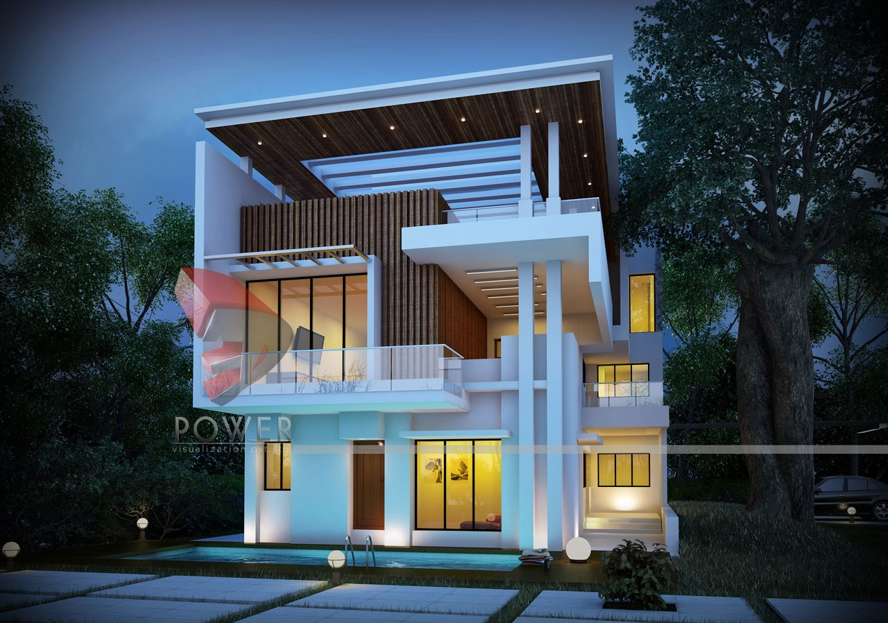 3D Architectural Bungalow Rendering