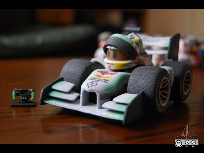 3D Printed Mini F1 Drivers Creator Tells Us About His