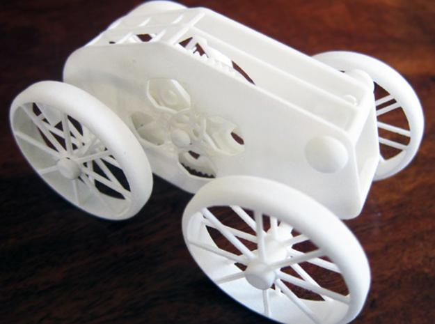 This Amazing 3D Printed WindUp Car Comes Off the Printer