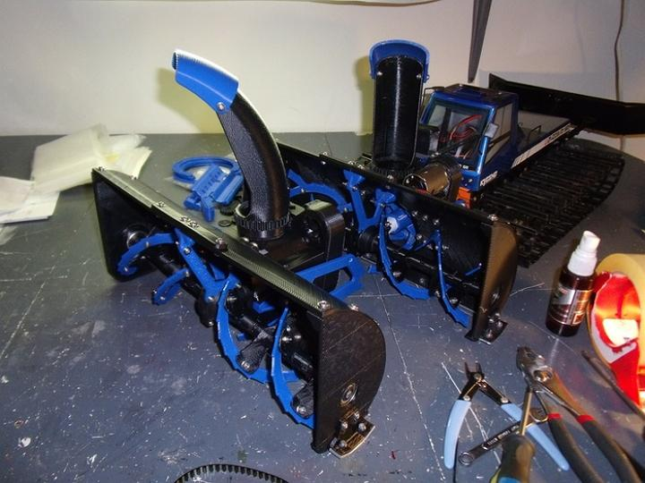 3d Printed Remote Controlled Snowblower Hits Kickstarter