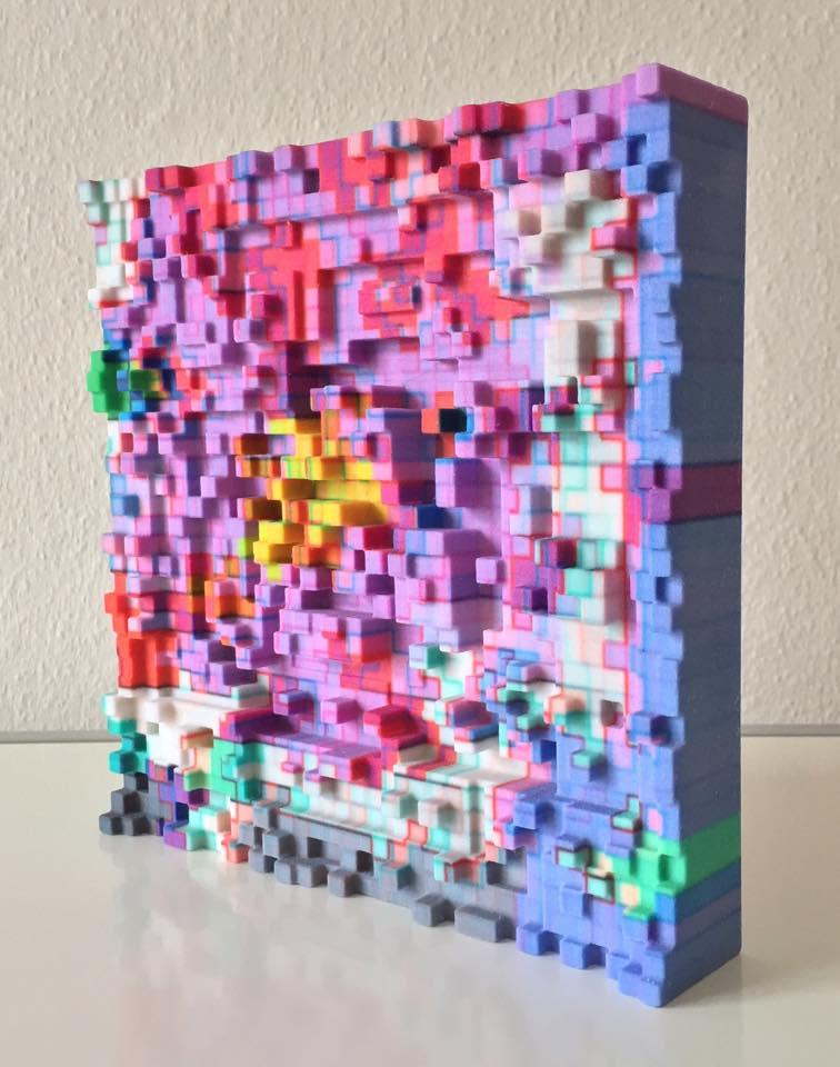 Fall Ceiling Wallpaper Design Mark Bern Takes His 2 Dimensional Pixel Art And Prints It