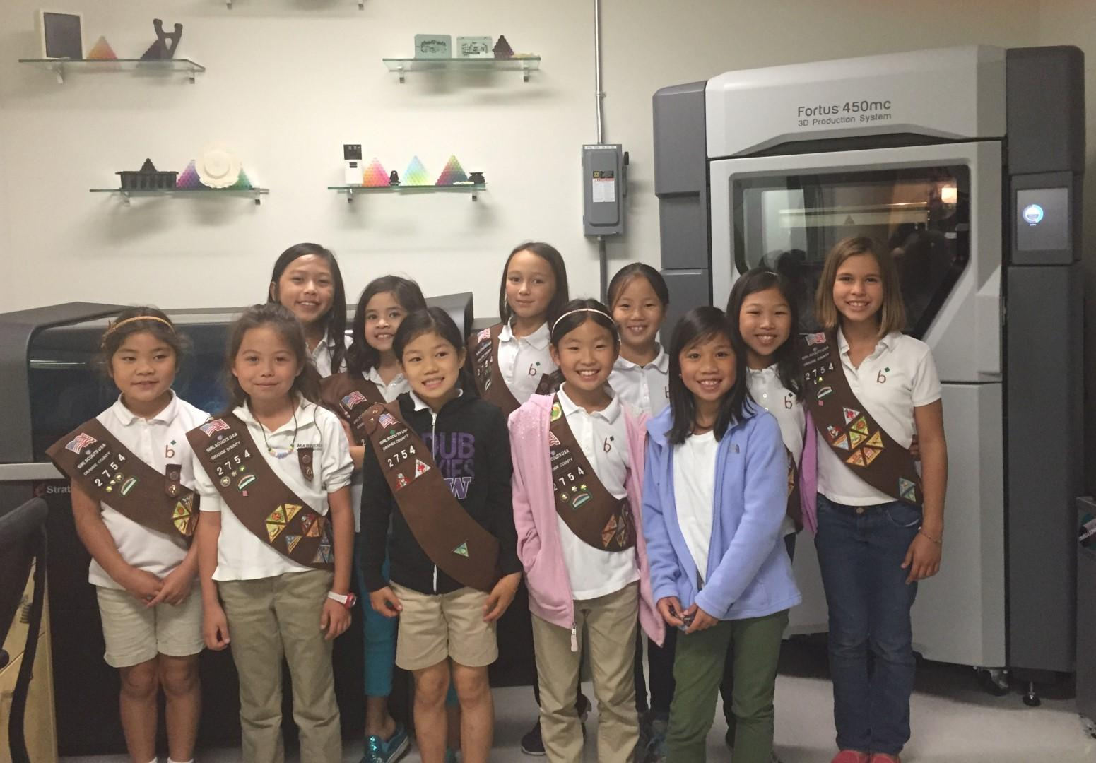 3D Printed Thin Mints Anyone California Girl Scout Troop Creates 3D Printed Plastic Cookies