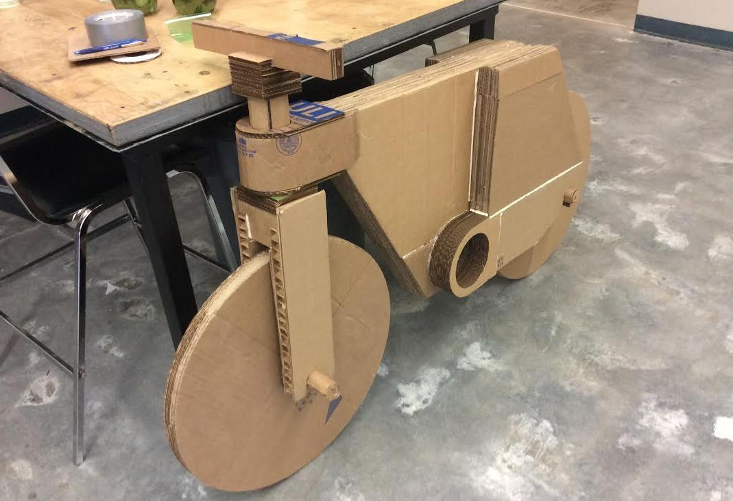Amazing 3D PrintedCardboard Bicycle Will Be Ridden for