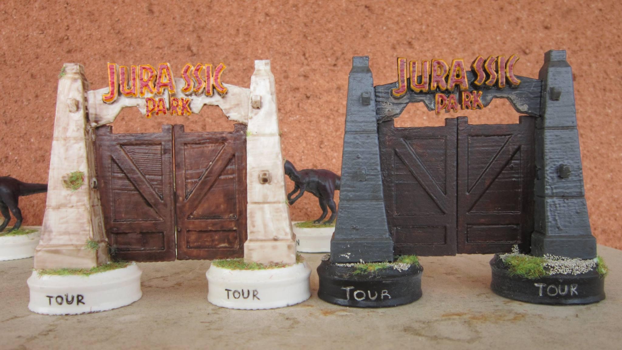 Jurassic Park 3d Printed Chess Set Pits T Rex Against