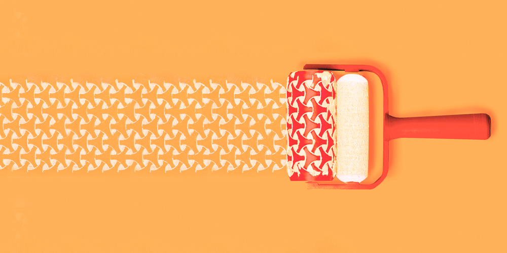 Fall Patterns Wallpaper Introducing Chic 3d Printed Patterned Paint Rollers