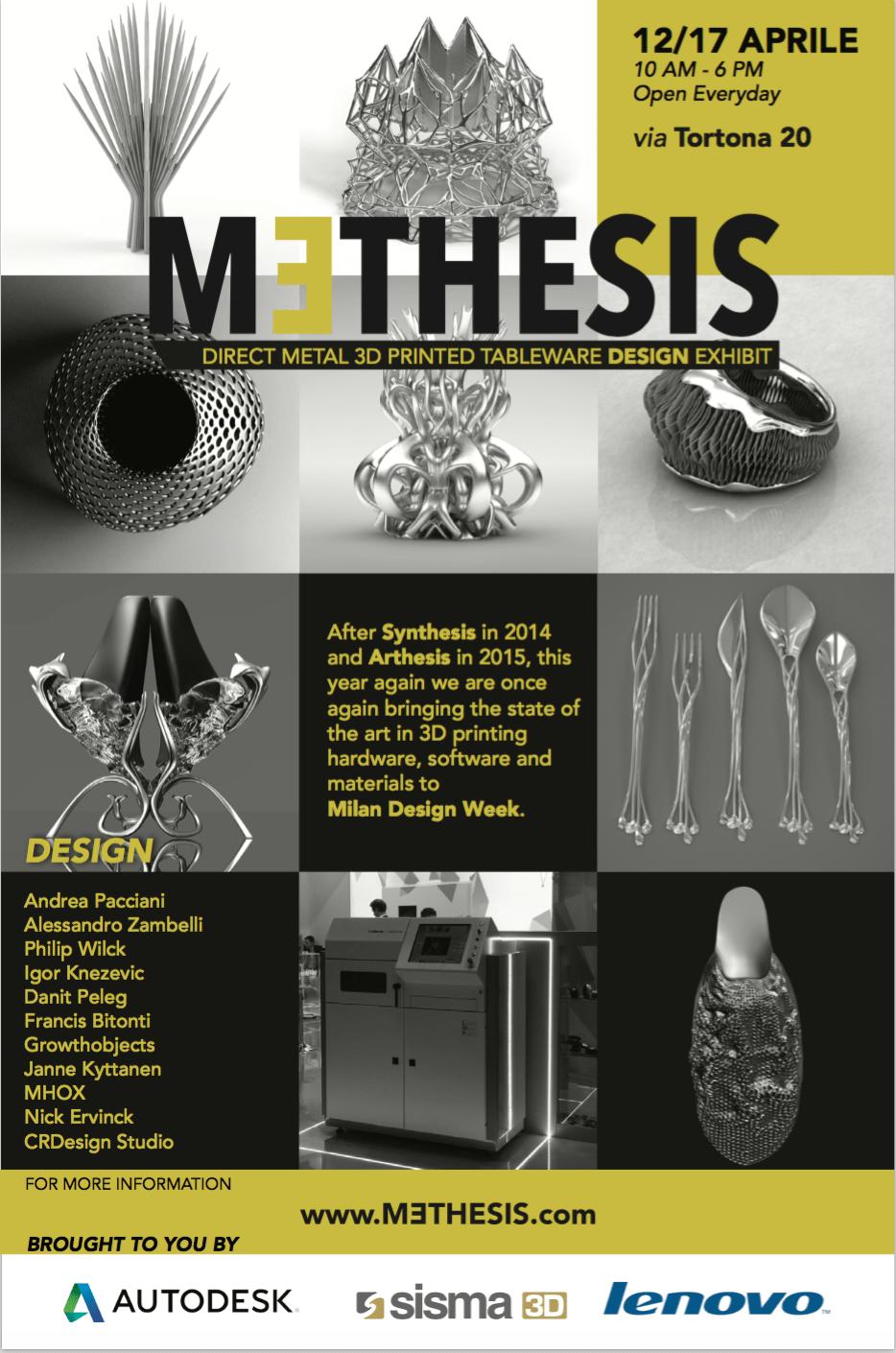 MTHESIS Event Takes Metal 3D Printing to Milan Design