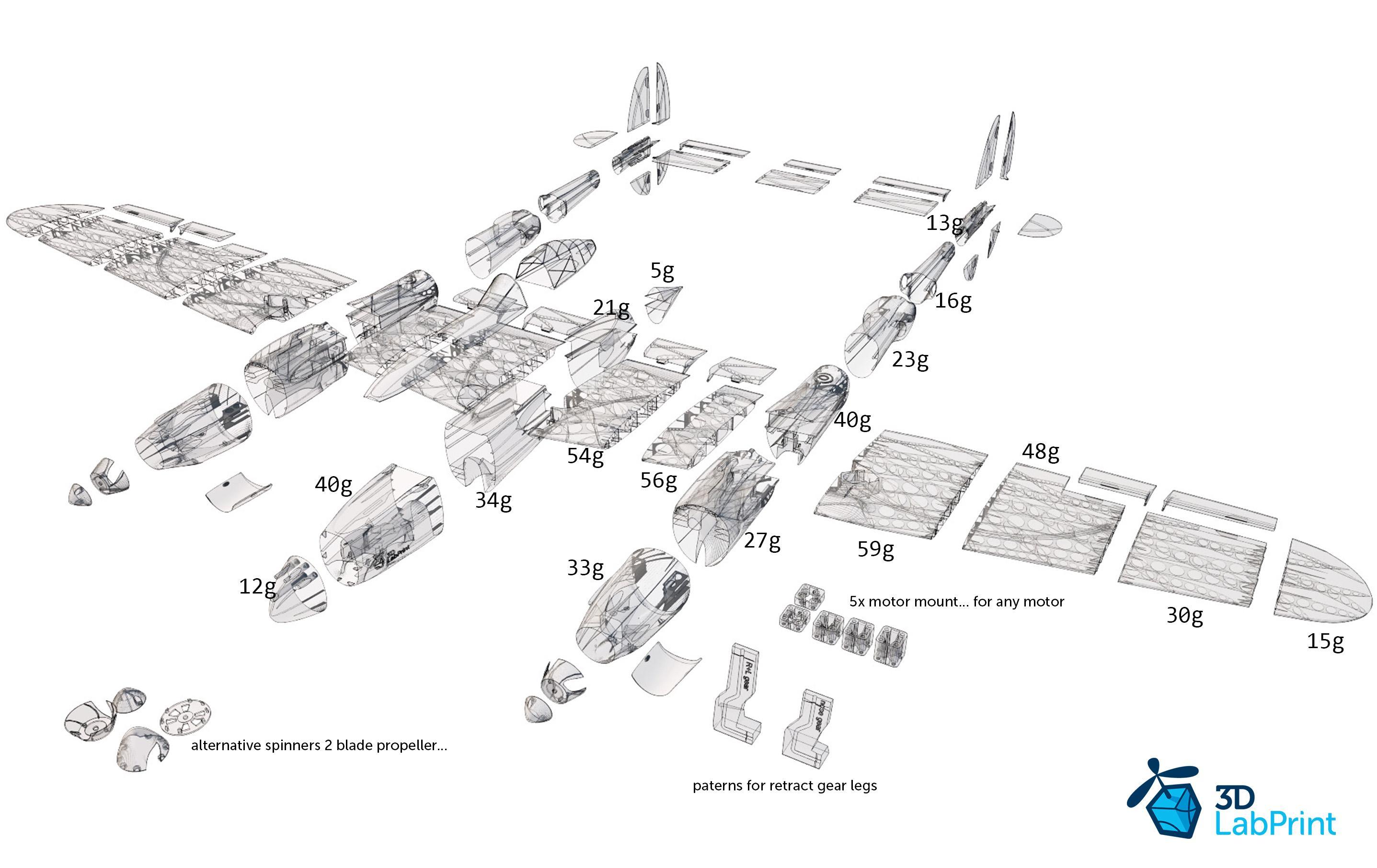 3DLabPrint Introduces Latest 3D Printable Model Airplane