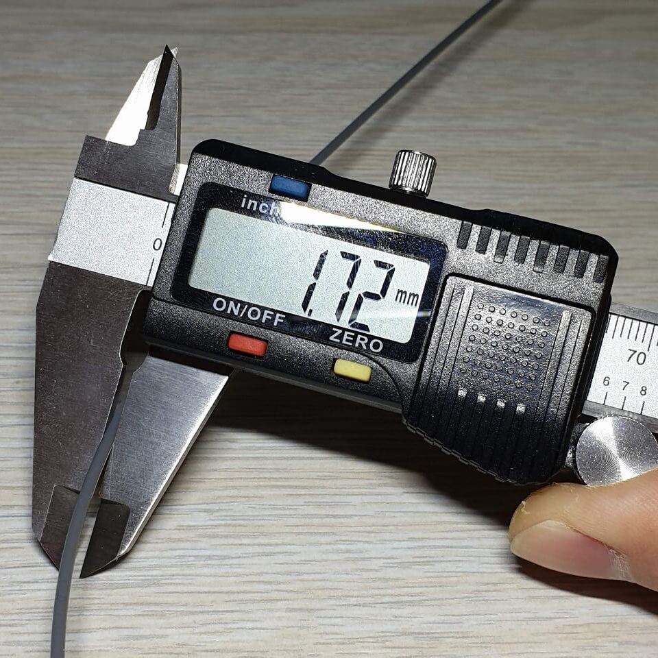 Filament Measurement for flow rate calibration