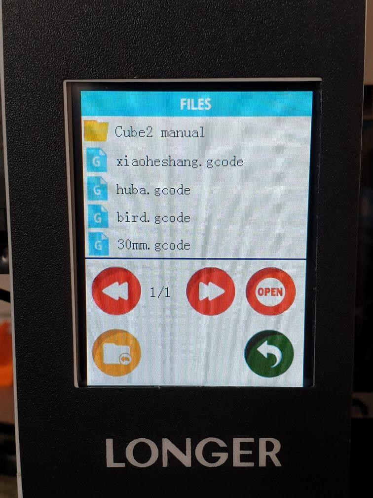 Cube 2 Mini screen 1 | Cube2 Mini Review - 3D Printer for Kids
