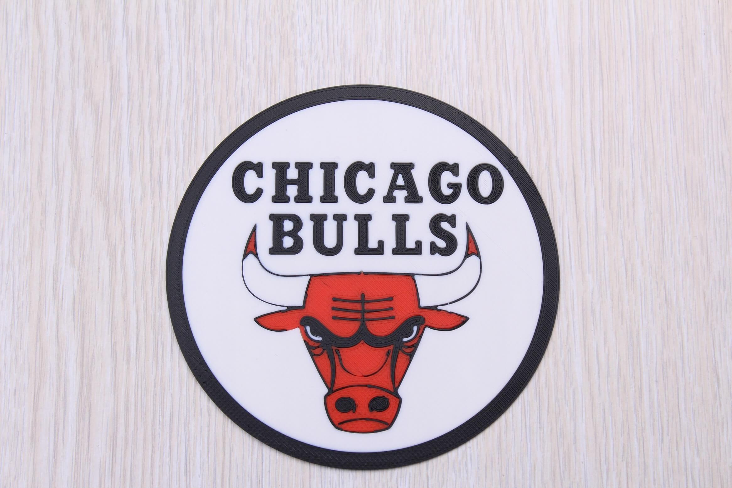 Chicago Bulls sign Multi Color 3D Print 3 | Multi-Color 3D Printing Using IdeaMaker