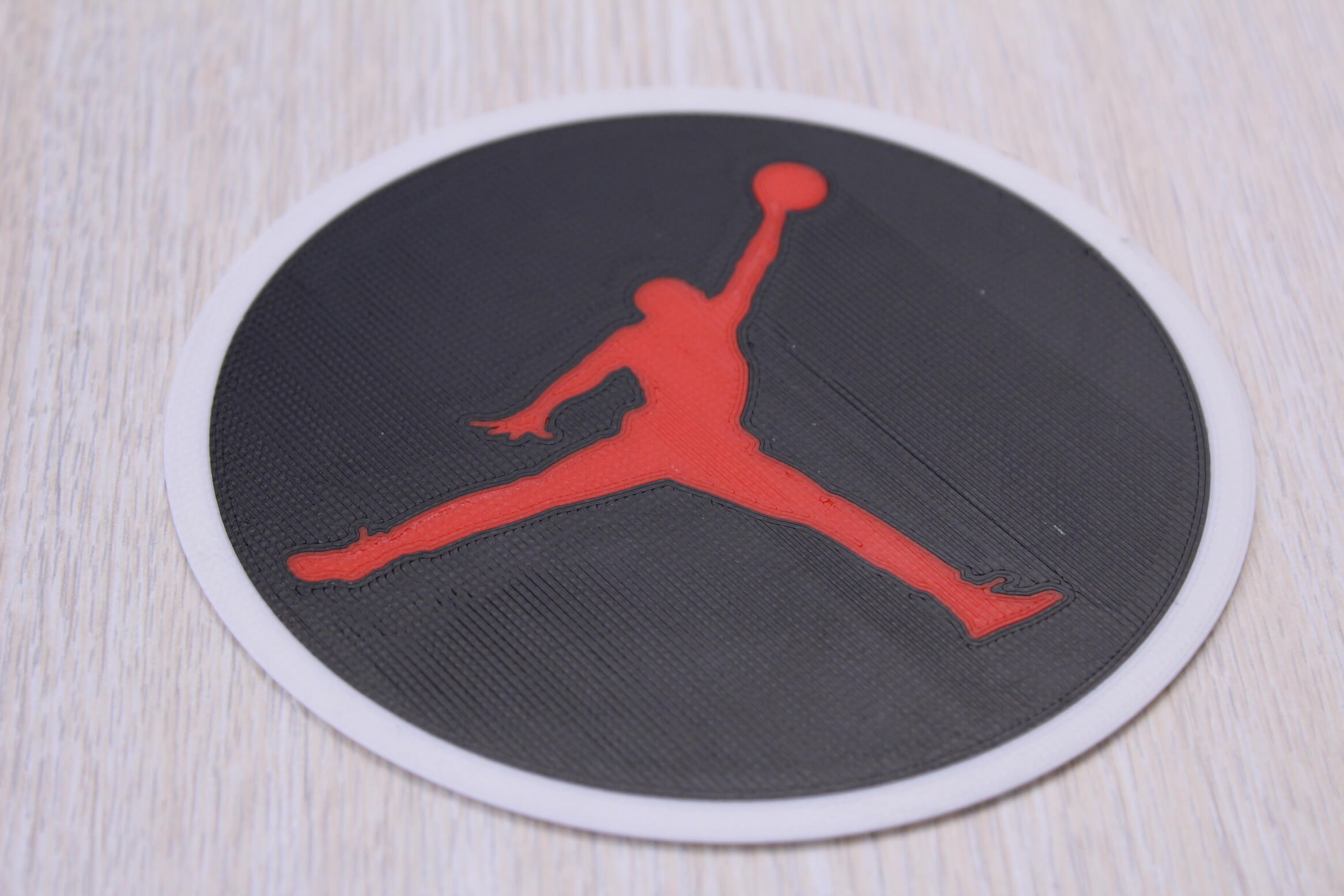 Jordan sign Multi Color 3D Print 3 | Multi-Color 3D Printing Using IdeaMaker