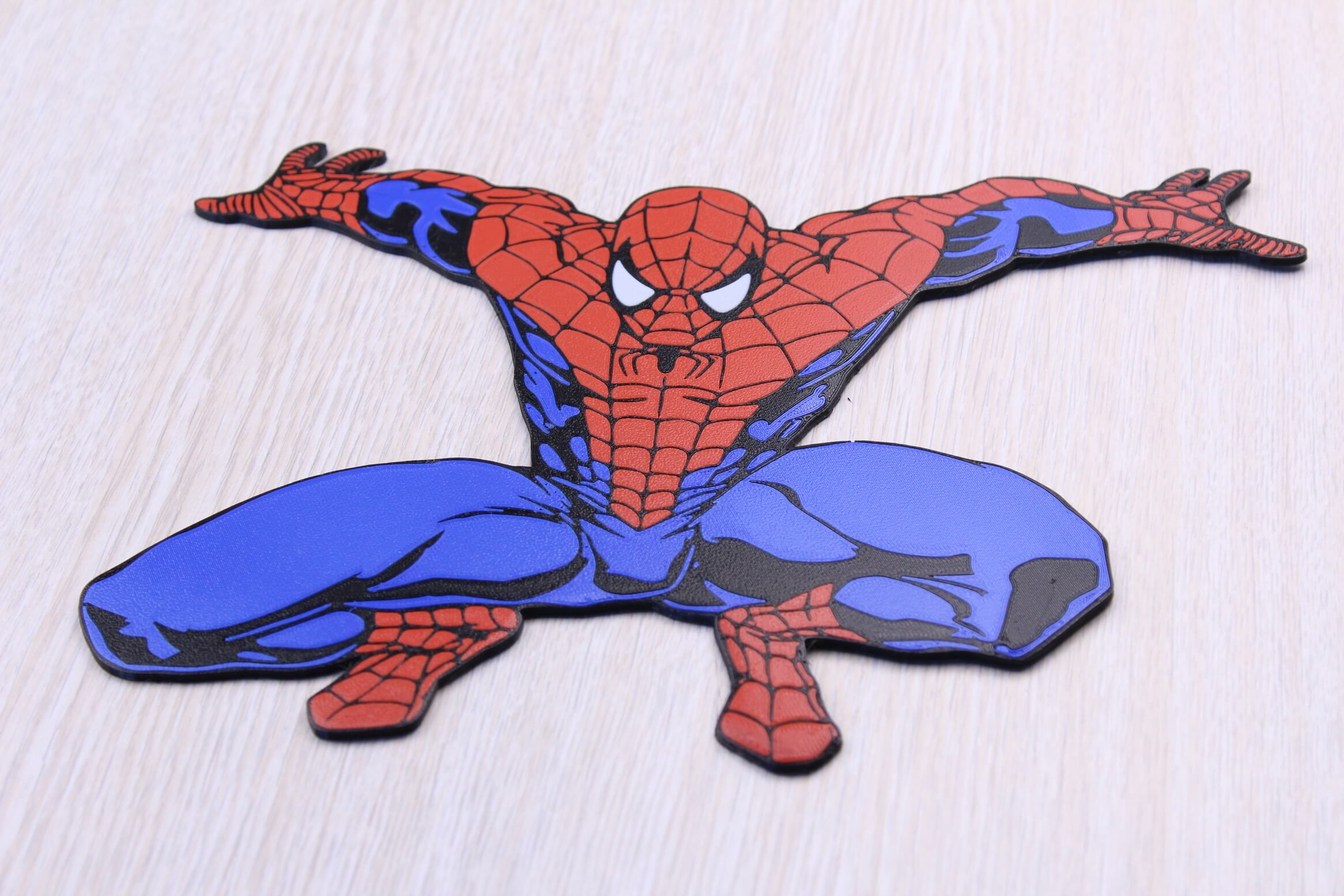 Spiderman Multi Color 3D Print 1 | Multi-Color 3D Printing Using IdeaMaker