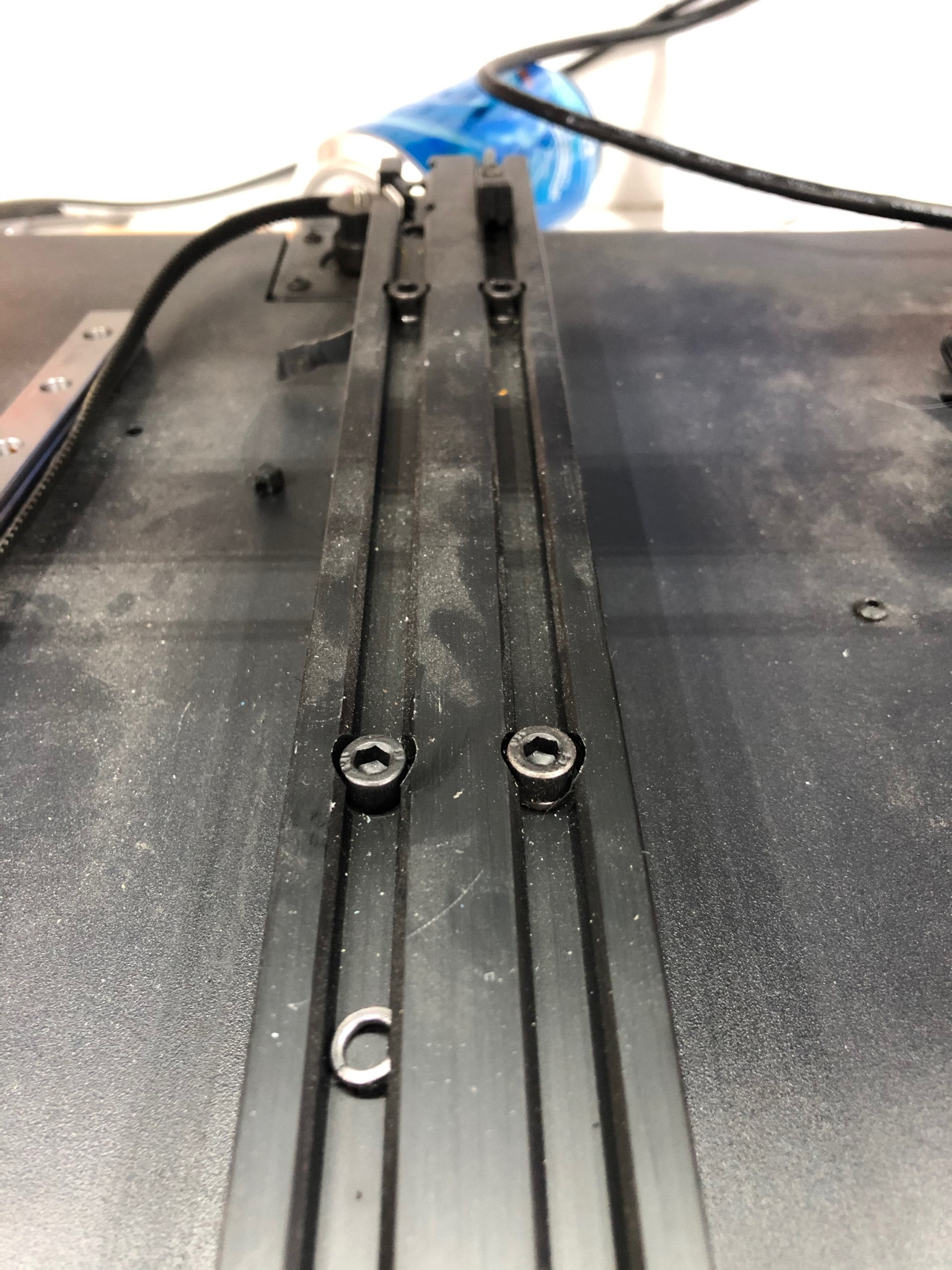Y screw washer off scaled | Artillery Linear Rail Y Axis Mod Guide: Sidewinder X1 and Genius