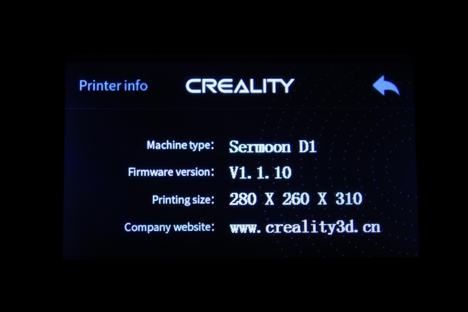 Creality-Sermoon-D1-TFT-Screen-Interface-3