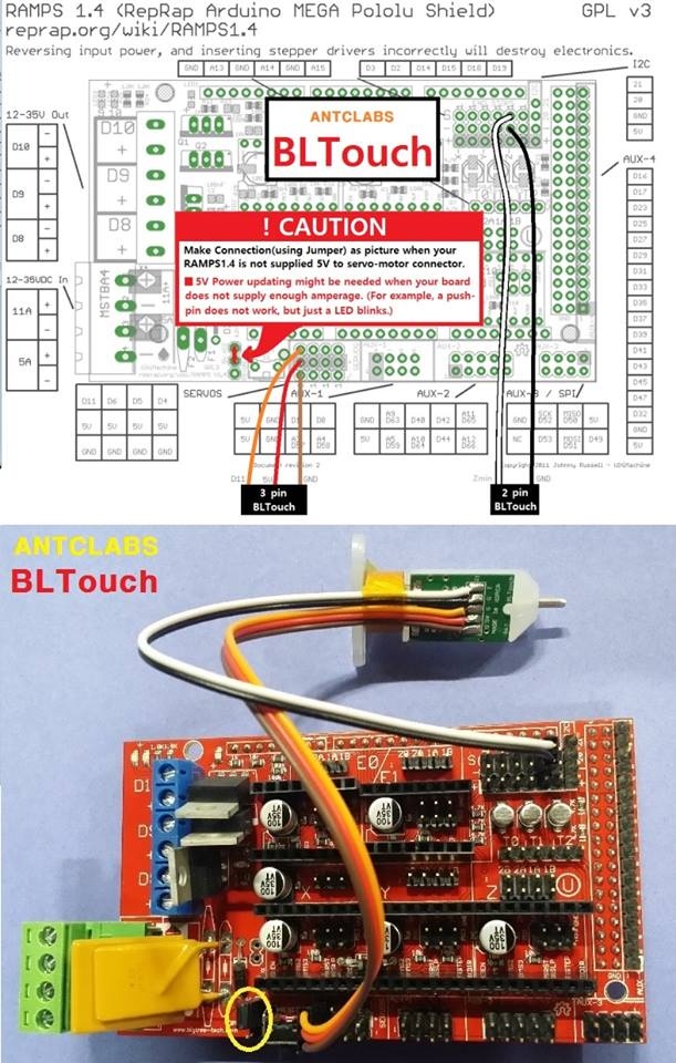 Ramps 1.4 Wiring Diagram : ramps, wiring, diagram, Dream, Print, Connect, BLTouch, Board?